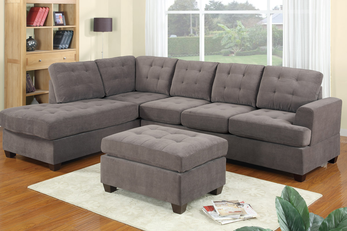 Most Up To Date Noa Sectional Sofas With Ottoman Gray In Gray Sectional Sofa With Chaise: Luxurious Furniture (View 9 of 25)