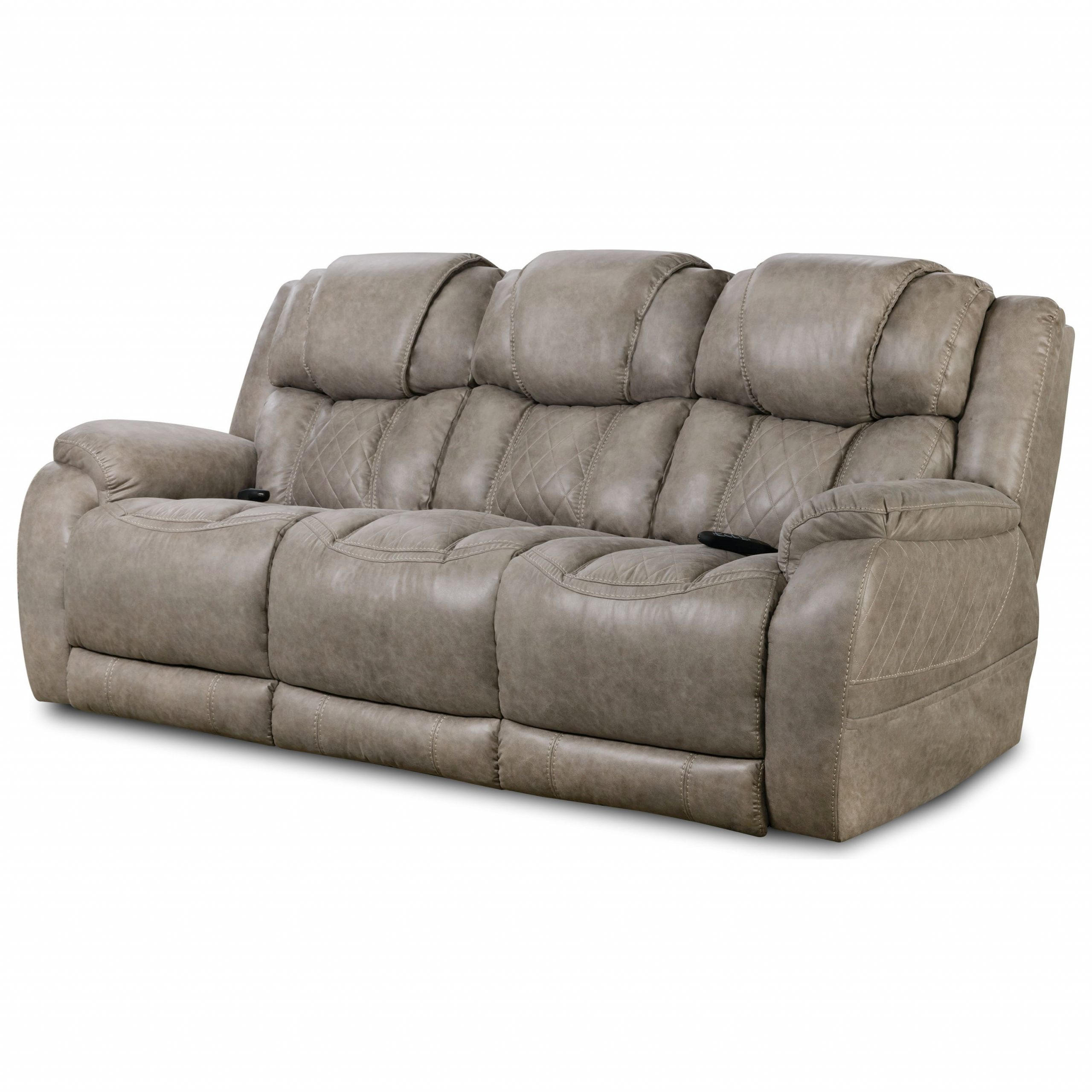 Most Up To Date Raven Power Reclining Sofas Within Homestretch 174 Casual Style Double Reclining Power Sofa (View 9 of 15)