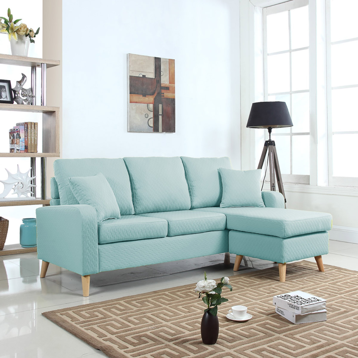 Most Up To Date Verona Mid Century Reversible Sectional Sofas Throughout Mobilis Mid Century Modern Small Space Linen Fabric (View 2 of 25)