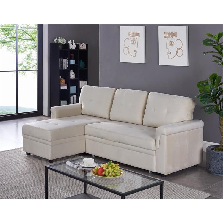 Naomi Home Laura Reversible Sleeper Sectional Sofa Storage With Regard To Fashionable Copenhagen Reversible Small Space Sectional Sofas With Storage (View 6 of 25)