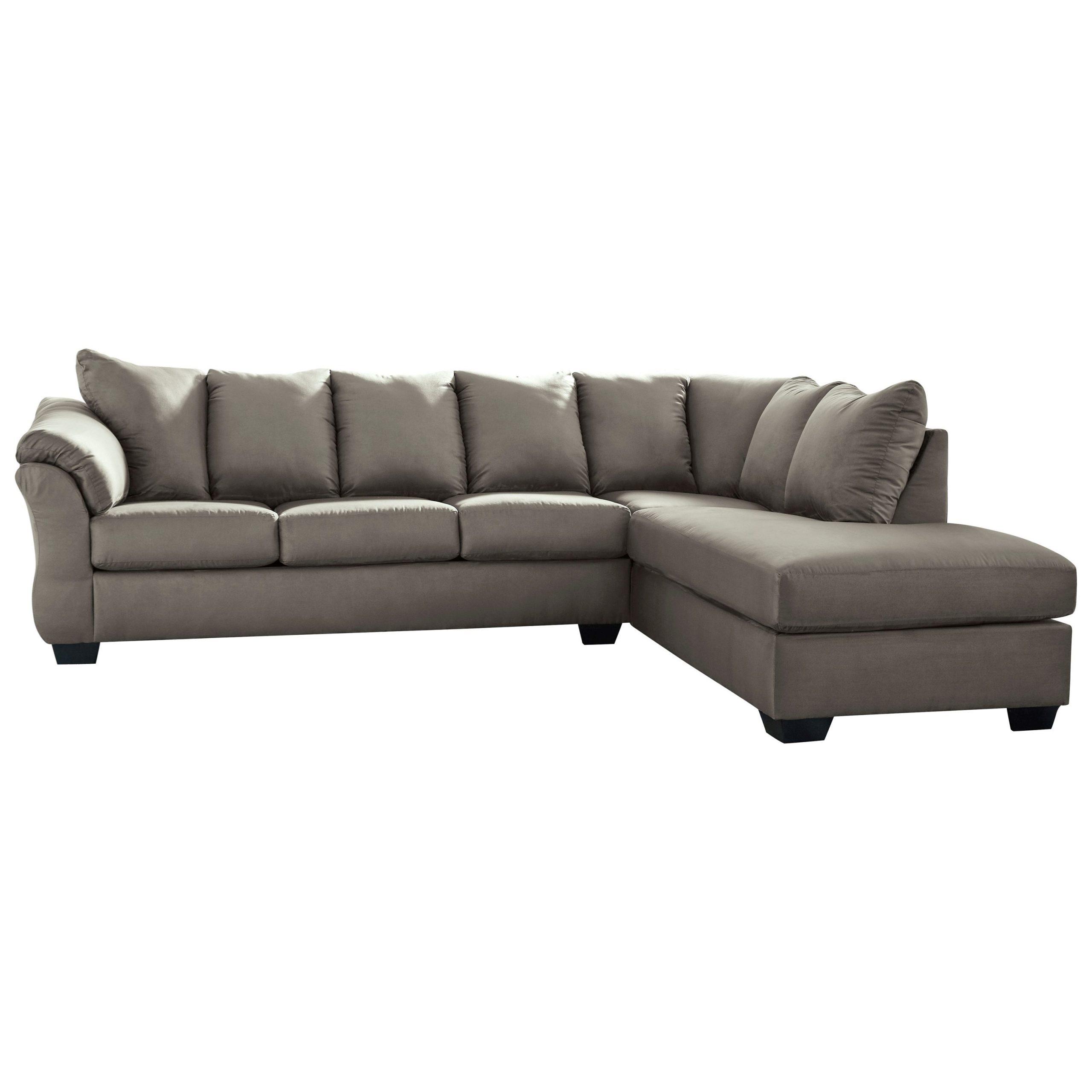 Newest 2Pc Burland Contemporary Chaise Sectional Sofas Regarding Signature Designashley Darcy – Cobblestone (View 18 of 25)