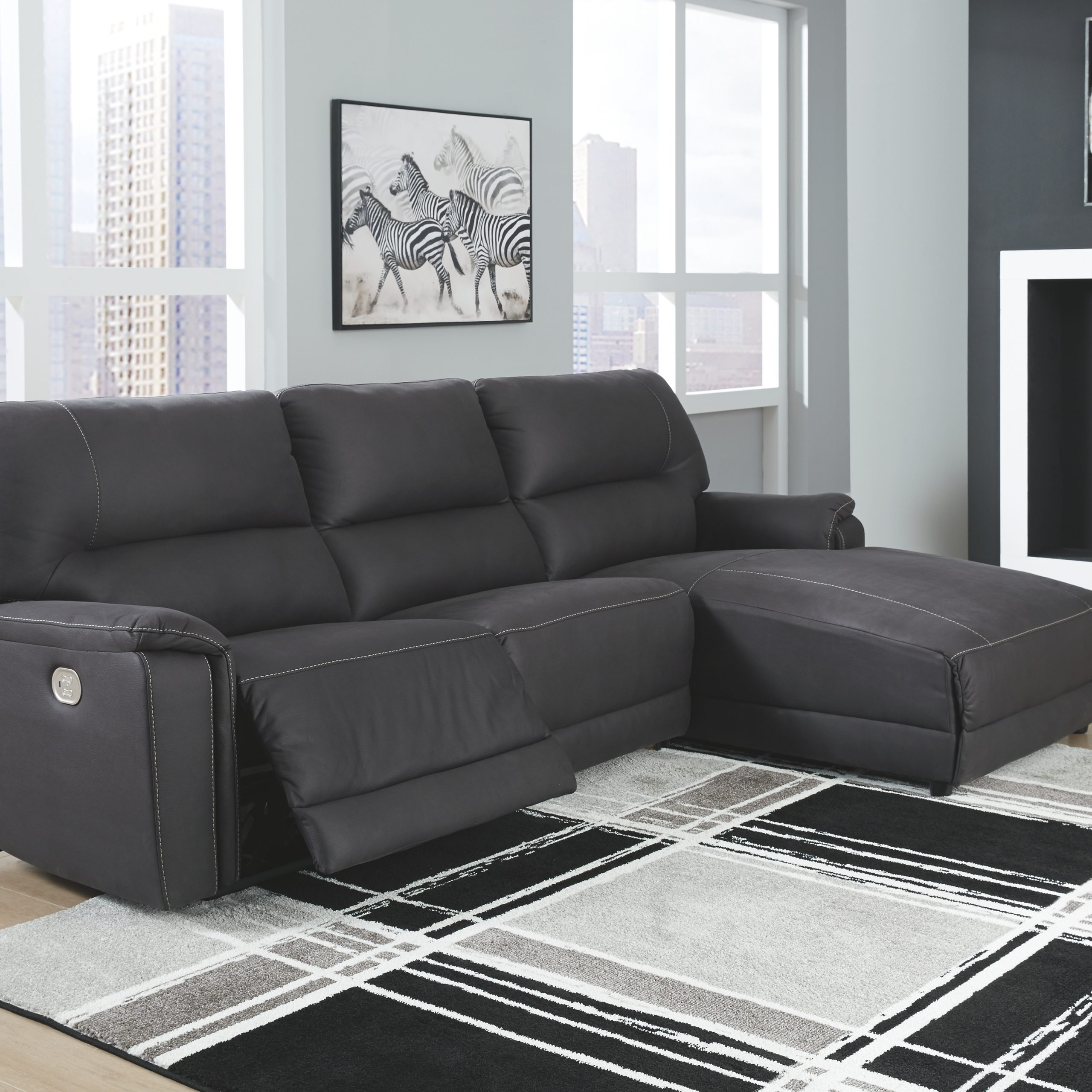 Newest 3Pc Polyfiber Sectional Sofas Pertaining To Henefer 3 Piece Reclining Sectional With Chaise And Power (View 8 of 25)