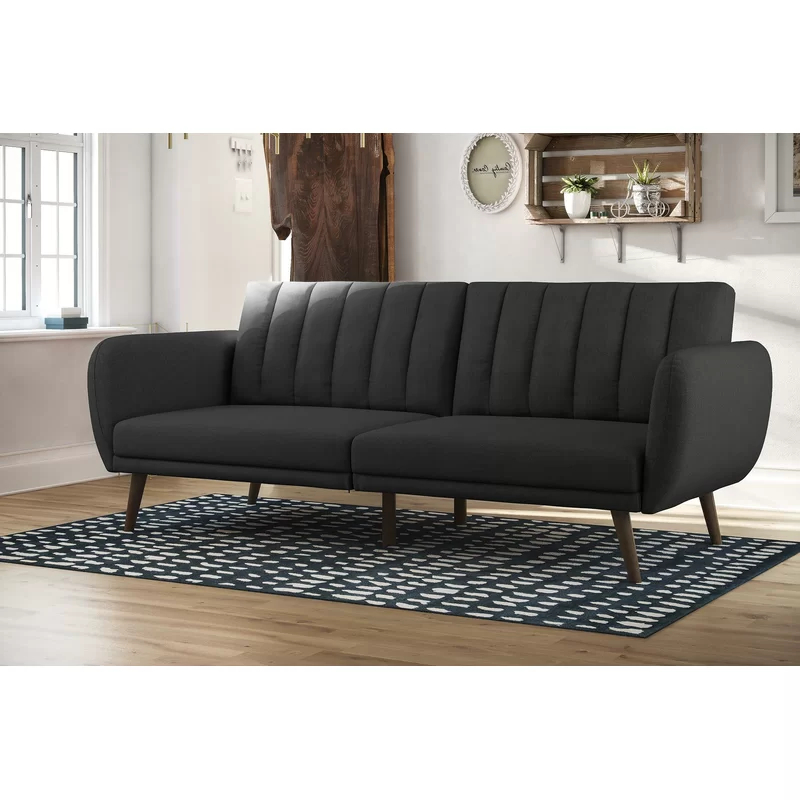 Newest Brittany Sectional Futon Sofas Pertaining To Novogratz Brittany Convertible Sofa & Reviews (View 10 of 25)