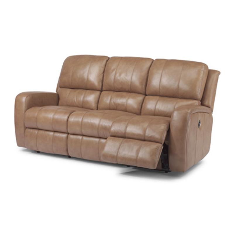 Newest Charleston Power Reclining Sofas In Flexsteel 1157 62P Hammond Leather Power Reclining Sofa (View 12 of 15)