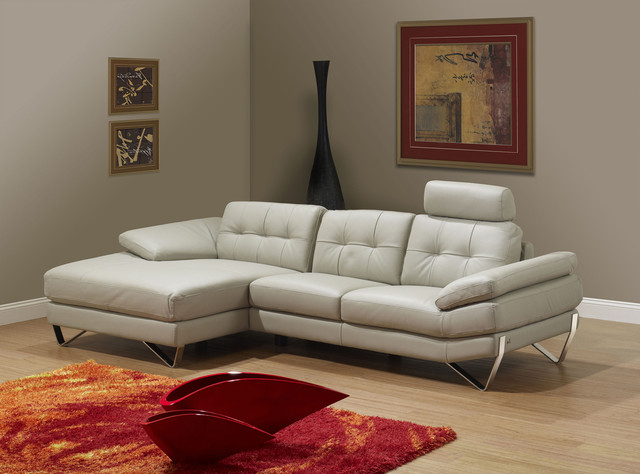 Newest Ludovic Contemporary Sofas Light Gray Throughout Dallas Light Grey Right Sectional Sofa – Modern (View 6 of 25)