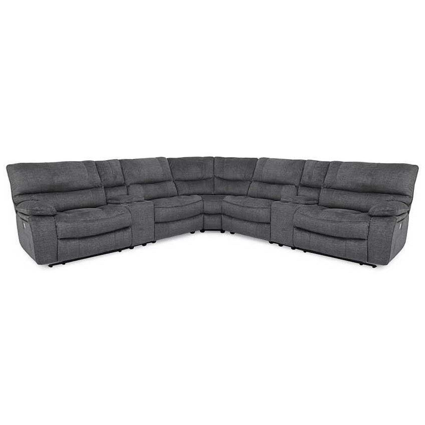 Newest Luna Leather Power Reclining Sectional: Only $5, (View 5 of 25)