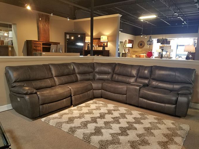 Newest Luna Leather Power Reclining Sectional: Only $5, (View 3 of 25)