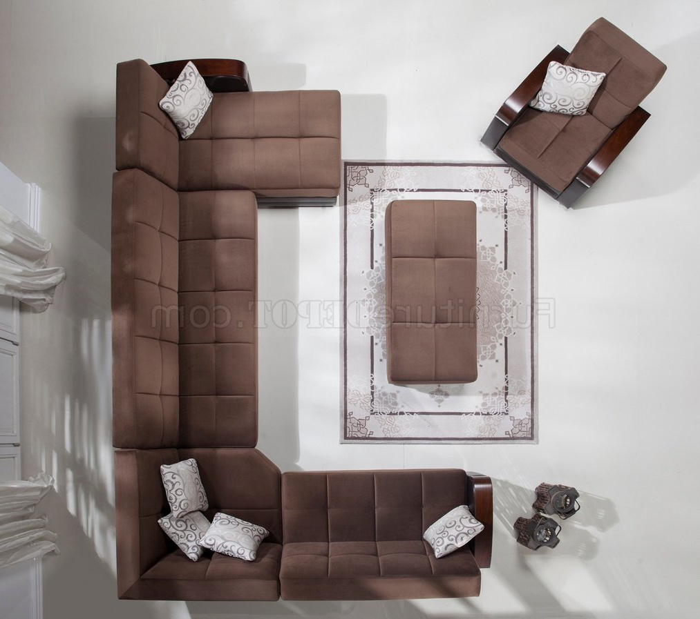 Newest Luna Naomi Brown Modular Sectional Sofa In Fabricistikbal For Luna Leather Sectional Sofas (View 18 of 25)