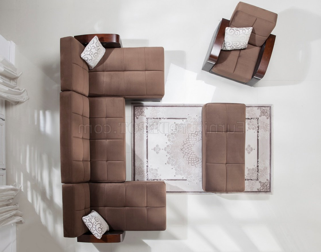 Newest Luna Naomi Brown Modular Sectional Sofa In Fabricistikbal Regarding Luna Leather Sectional Sofas (View 6 of 25)