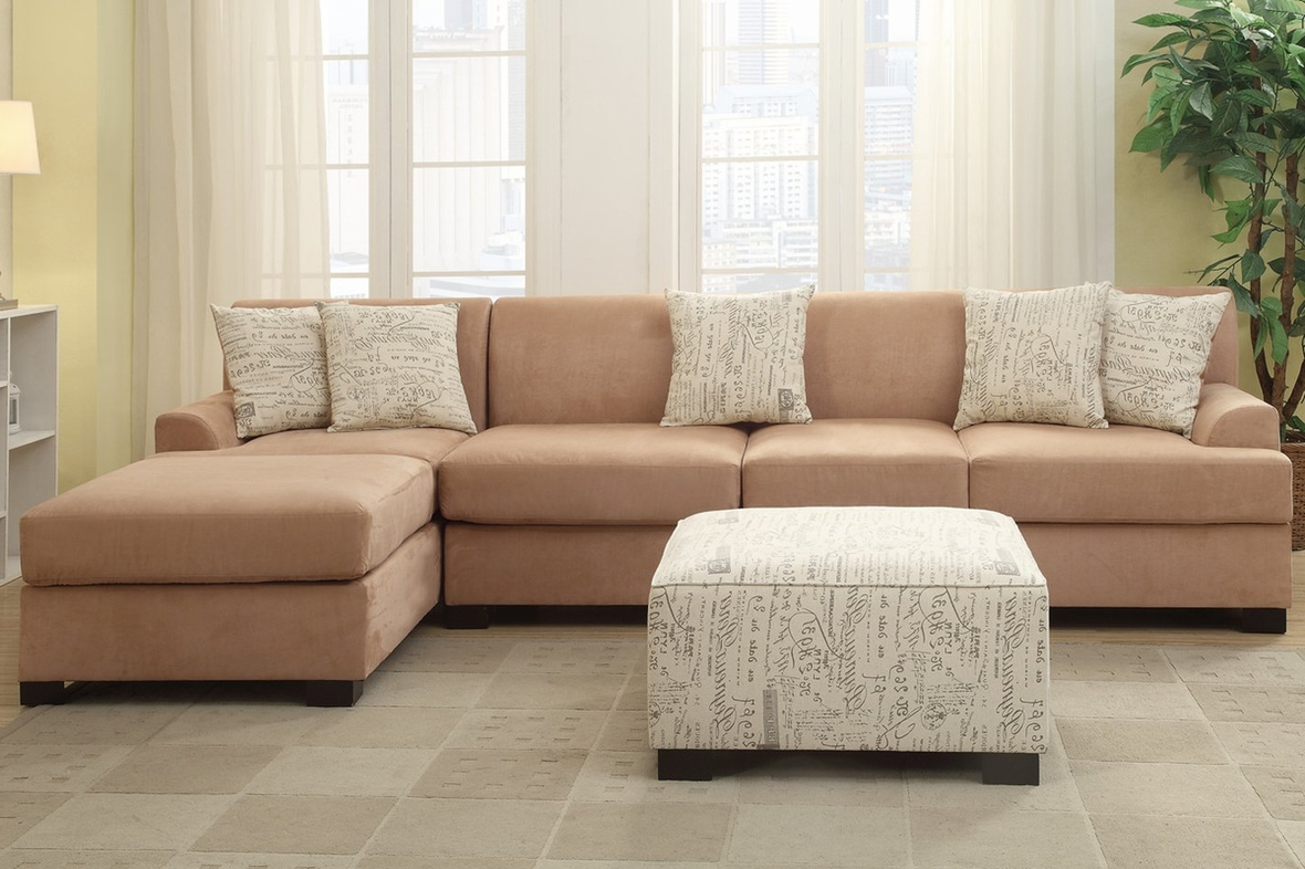 Newest Nia Beige Fabric Sofa – Steal A Sofa Furniture Outlet Los With Beige Sofas (View 3 of 15)