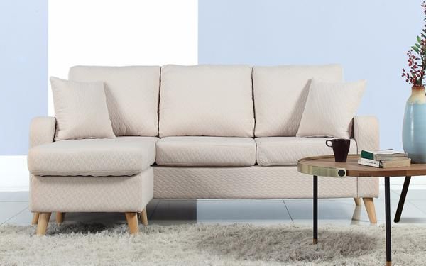 Newest Pride Modern Small Fabric Sectional (View 17 of 25)