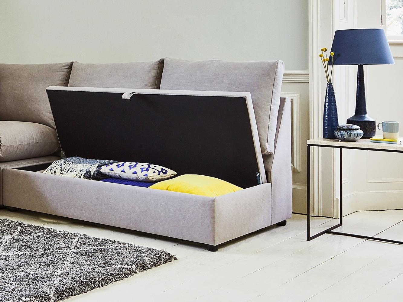 Newest The Minety Modular Chaise Storage Sofa Regarding Prato Storage Sectional Futon Sofas (View 21 of 25)
