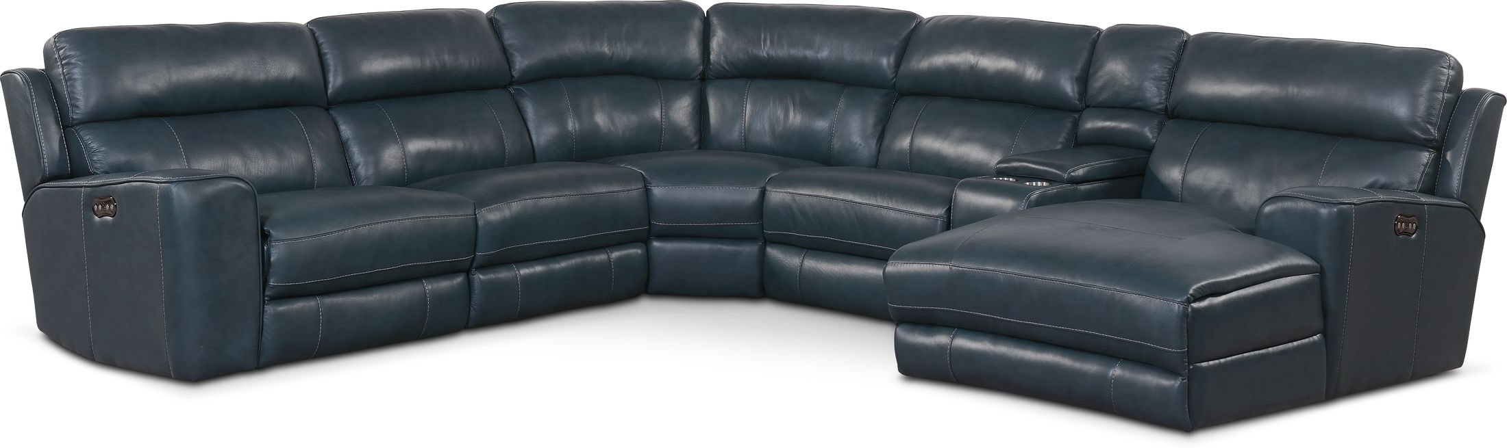 Newport 6 Piece Dual Power Reclining Sectional With Chaise With Regard To Widely Used Forte Gray Power Reclining Sofas (View 9 of 15)