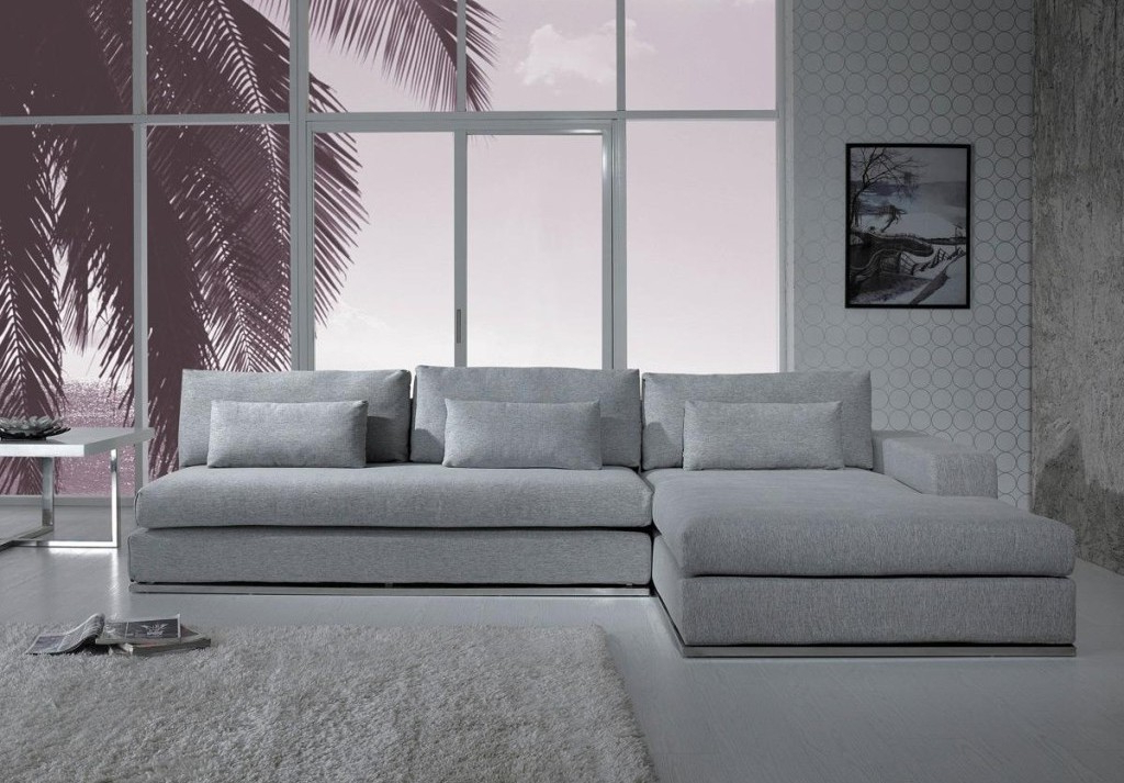 Noa Sectional Sofas With Ottoman Gray Pertaining To Widely Used Gray Sectional Sofa With Chaise: Luxurious Furniture (View 11 of 25)