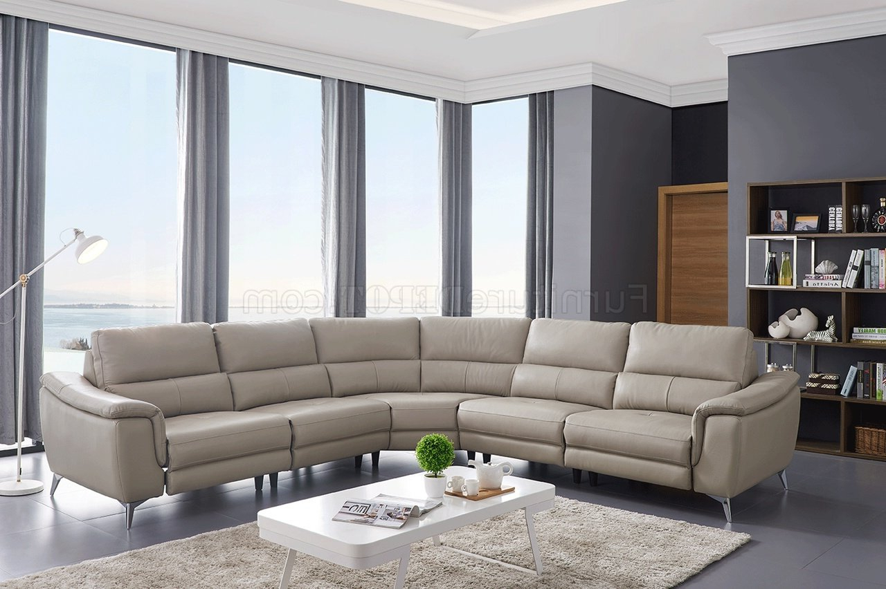 Noa Sectional Sofas With Ottoman Gray Throughout 2017 951 Power Motion Sectional Sofa Light Grey Leatheresf (View 23 of 25)
