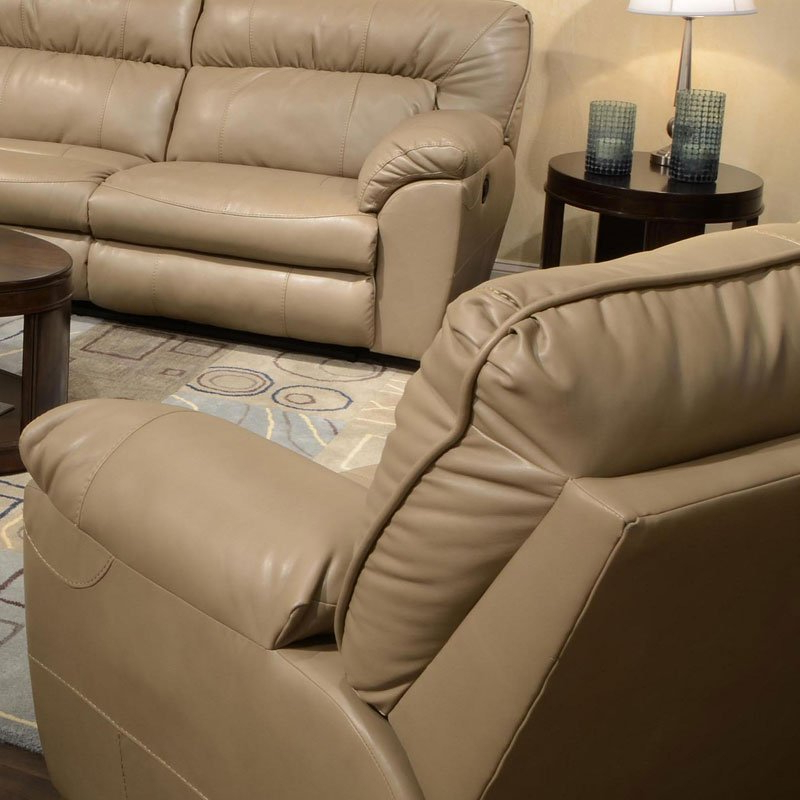 Nolan Leather Power Reclining Sofas For Well Liked Nolan Power Extra Wide Cuddler Recliner (Putty) Catnapper (View 9 of 15)