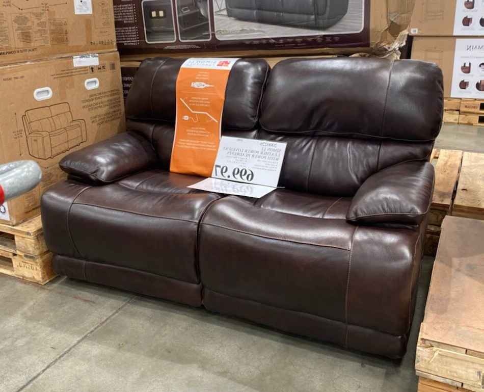 Nolan Leather Power Reclining Sofas With Regard To Most Up To Date Simon Li Aleena Leather Power Reclining Loveseat (View 3 of 15)