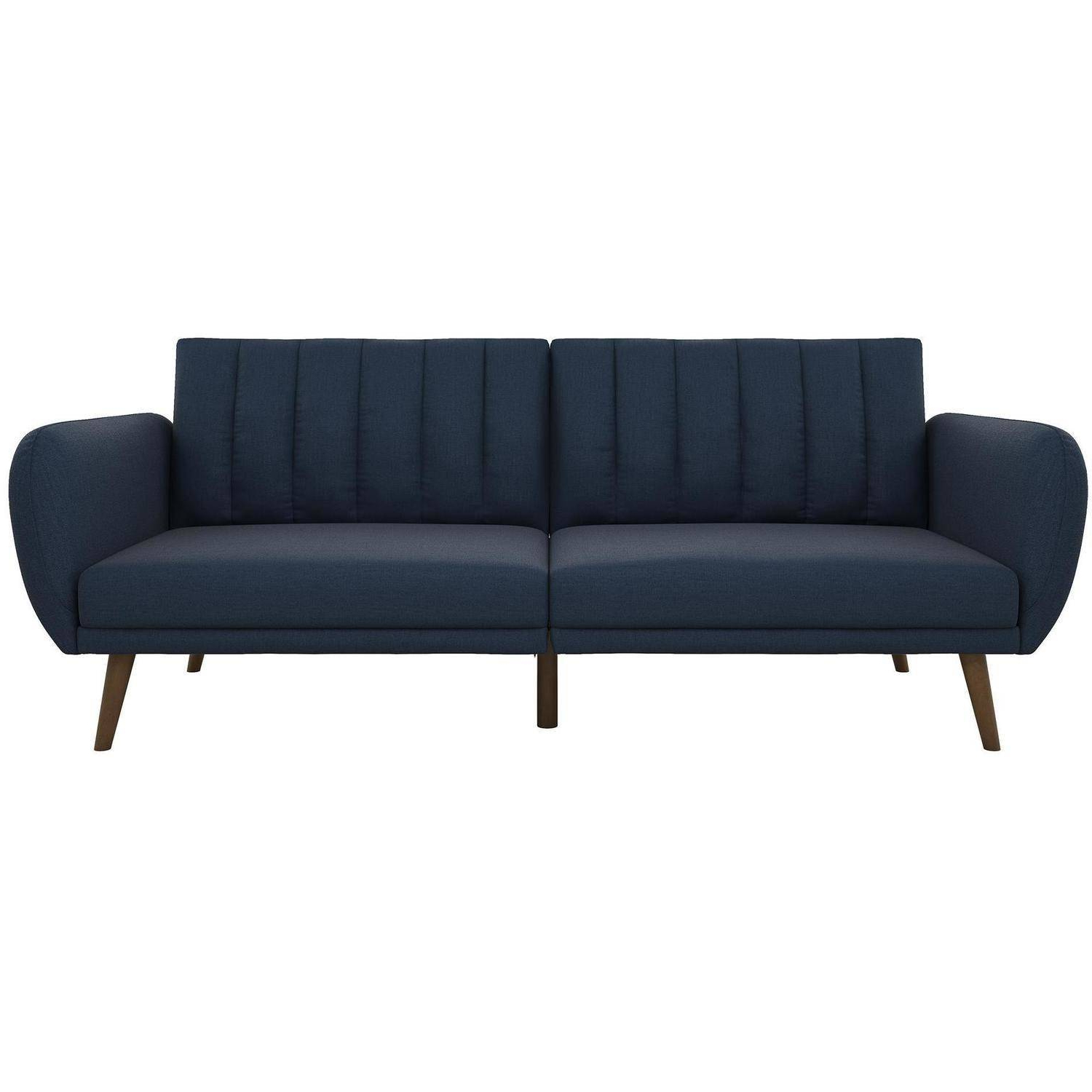 Novogratz Brittany Linen Futon Couch, Multiple Colors Inside 2018 Brittany Sectional Futon Sofas (View 5 of 25)