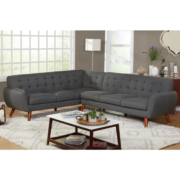 Owego L Shaped Sectional Sofas In Most Recent Simple Living Livingston Mid Century Tufted L Shaped (View 20 of 25)