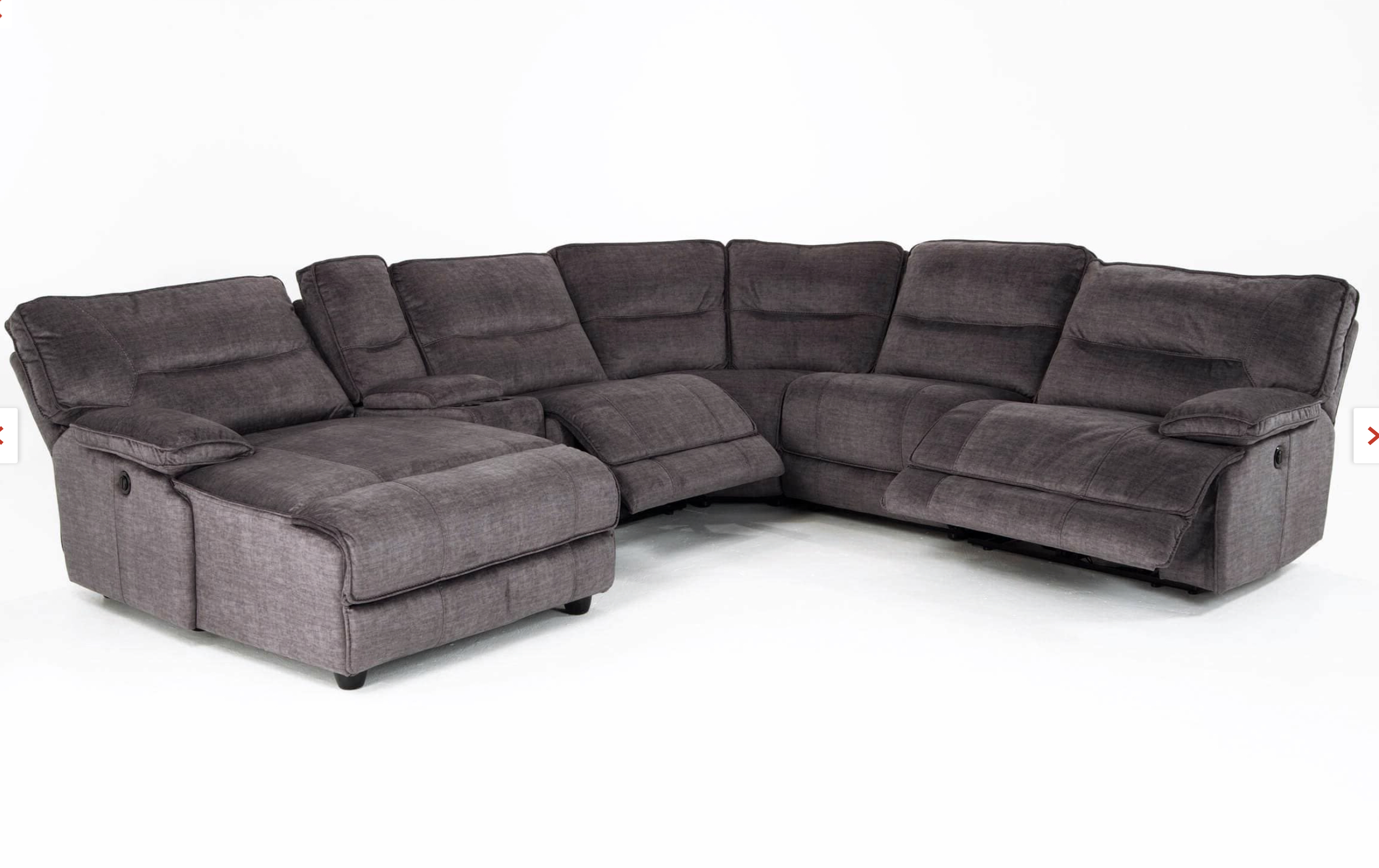 Pacifica Gray 6 Piece Power Reclining Left Arm Facing Pertaining To Recent Pacifica Gray Power Reclining Sofas (View 5 of 15)