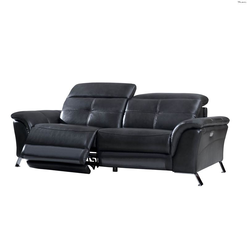 Pacifica Gray Power Reclining Sofas With Well Known Modern 2619 Dark Grey Leather Power Reclining Sofaesf (View 6 of 15)