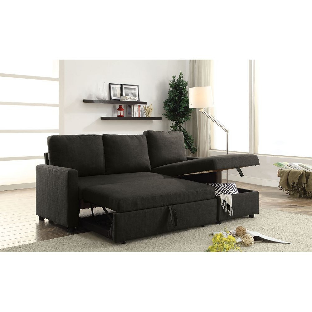 Palisades Reversible Small Space Sectional Sofas With Storage Regarding Latest Hiltons Sectional Sofa With Sleeper And Storage (View 19 of 25)