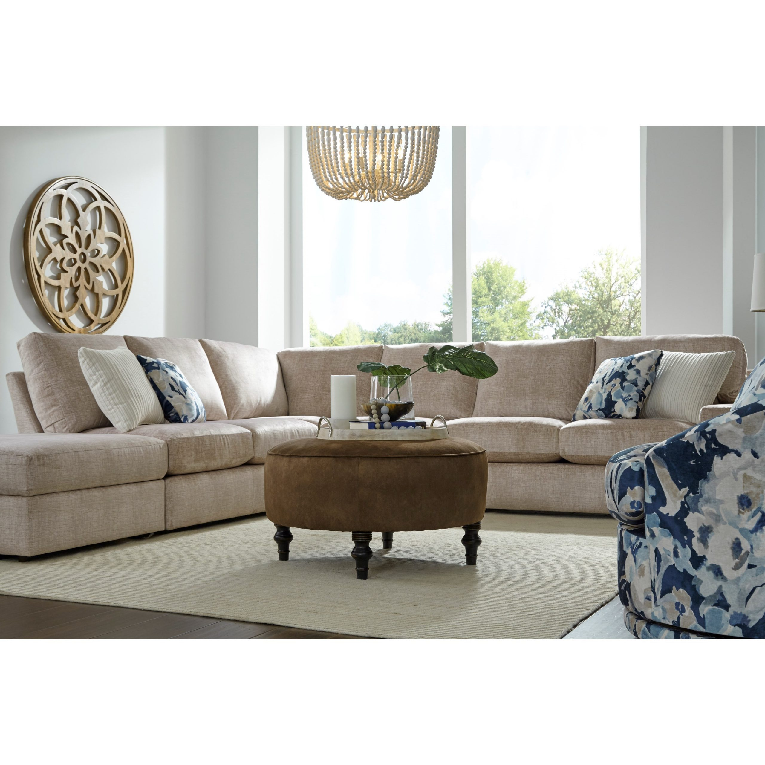 Palisades Reversible Small Space Sectional Sofas With Storage With Regard To Well Liked Best Home Furnishings Dovely Casual Five Seat Sectional (View 3 of 25)