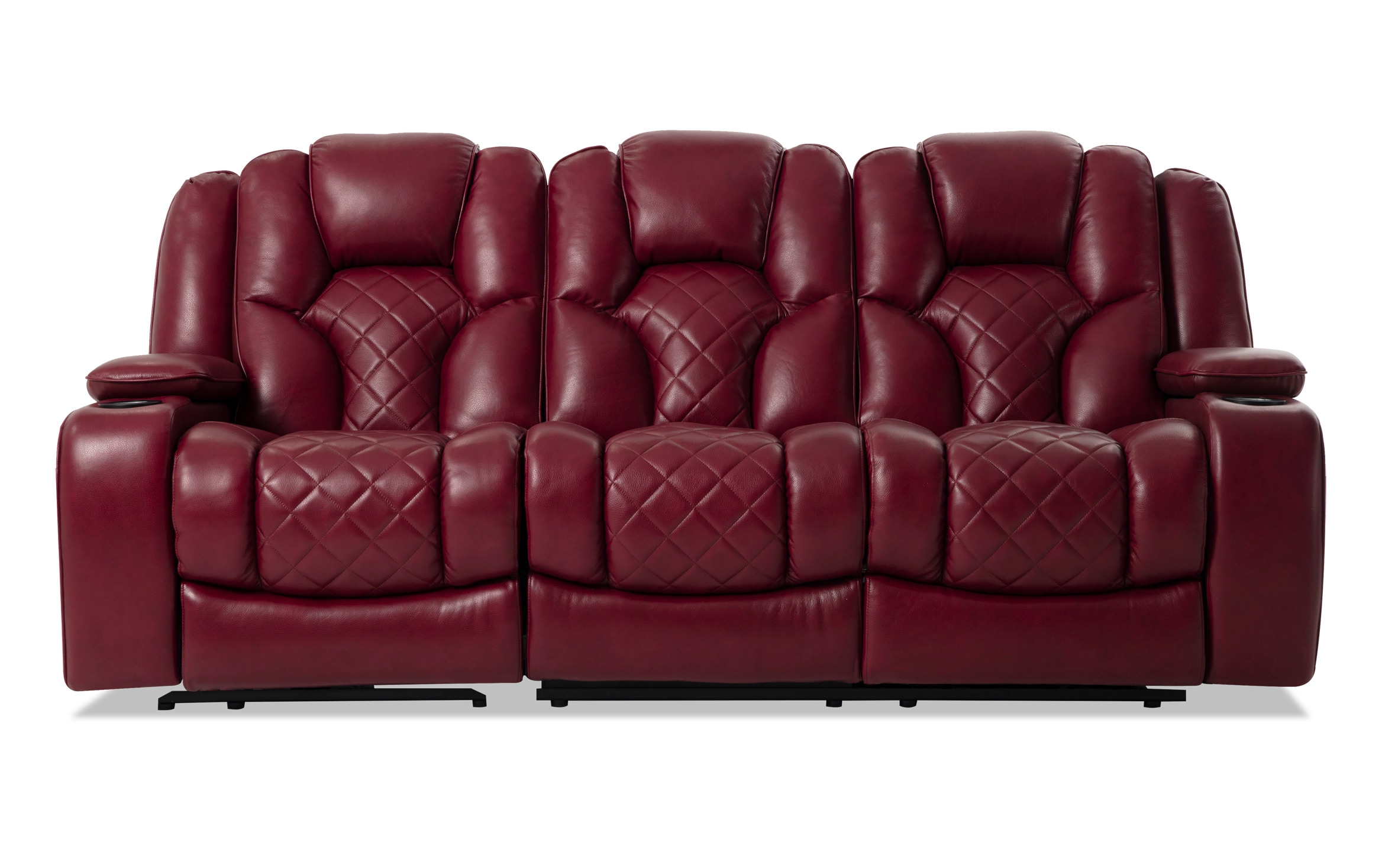 Panther Fire Leather Dual Power Reclining Sofas For Widely Used Red Leather Reclining Sofa And Loveseat – Latest Sofa Pictures (View 4 of 15)