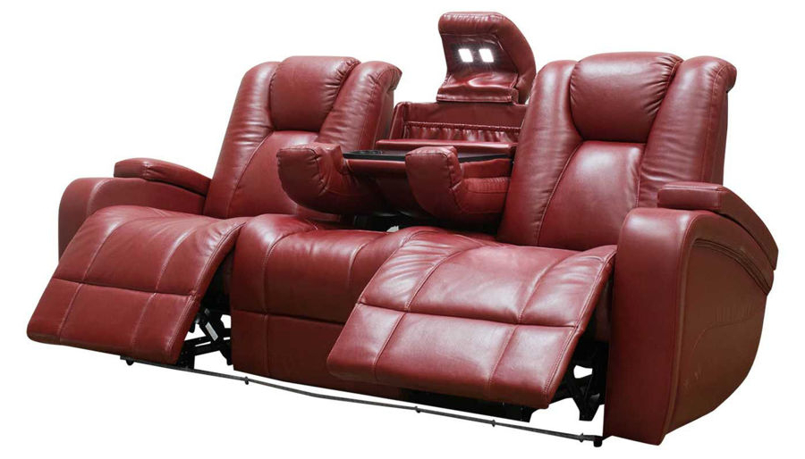 Panther Fire Leather Dual Power Reclining Sofas Intended For Preferred Panther Leather Power Reclining Sofa Console Loveseat (View 9 of 15)