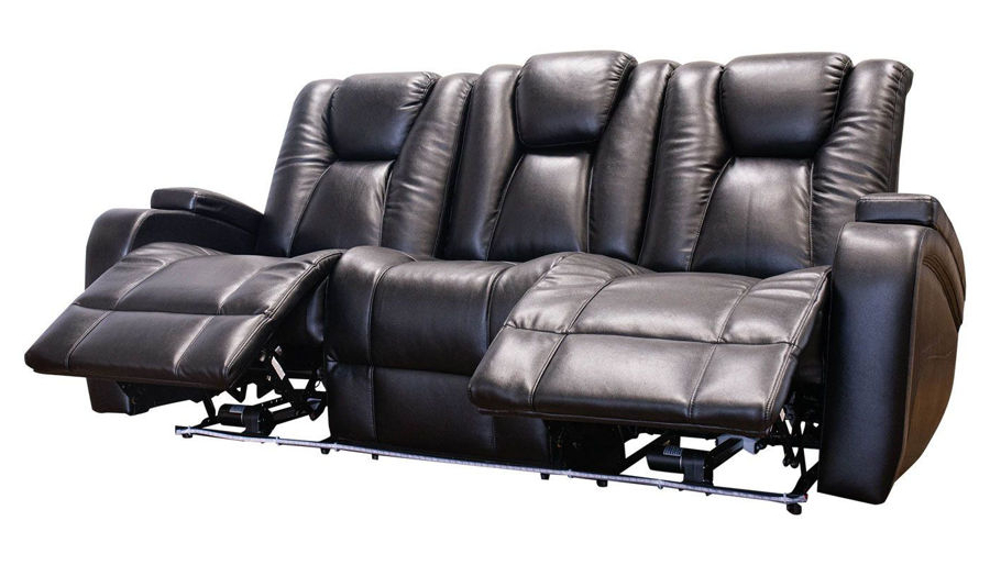 Panther Fire Leather Dual Power Reclining Sofas With Regard To 2018 Panther Leather Power Reclining Sofa Console Loveseat (View 6 of 15)