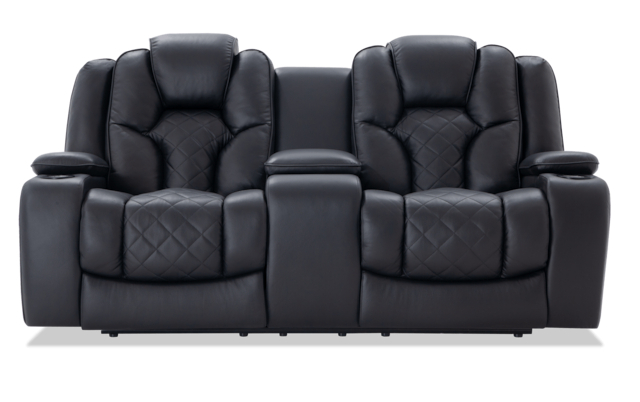 Panther Fire Leather Dual Power Reclining Sofas With Regard To Most Current Panther Leather Power Reclining Sofa Console Loveseat (View 10 of 15)