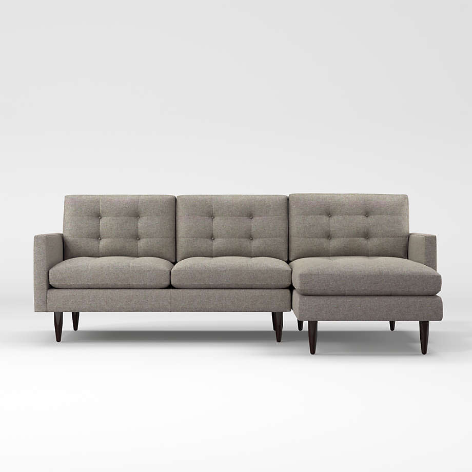 Petrie 2 Piece Left Arm Chaise Midcentury Sectional Sofa Throughout Trendy 2Pc Maddox Left Arm Facing Sectional Sofas With Chaise Brown (View 25 of 25)