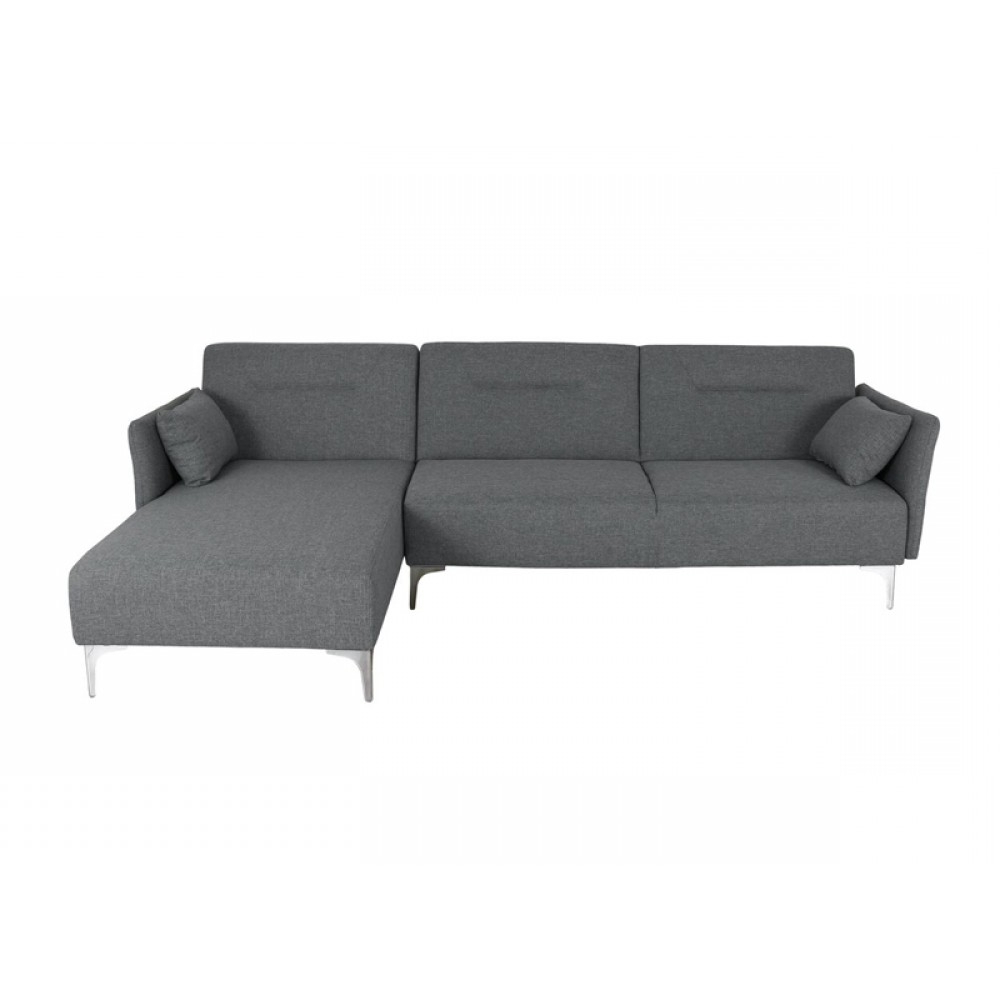 Polyfiber Linen Fabric Sectional Sofas Dark Gray Regarding Famous Sectional Sofa,Sofa Bed,Right Side Facing Chaise,Linen (View 11 of 25)