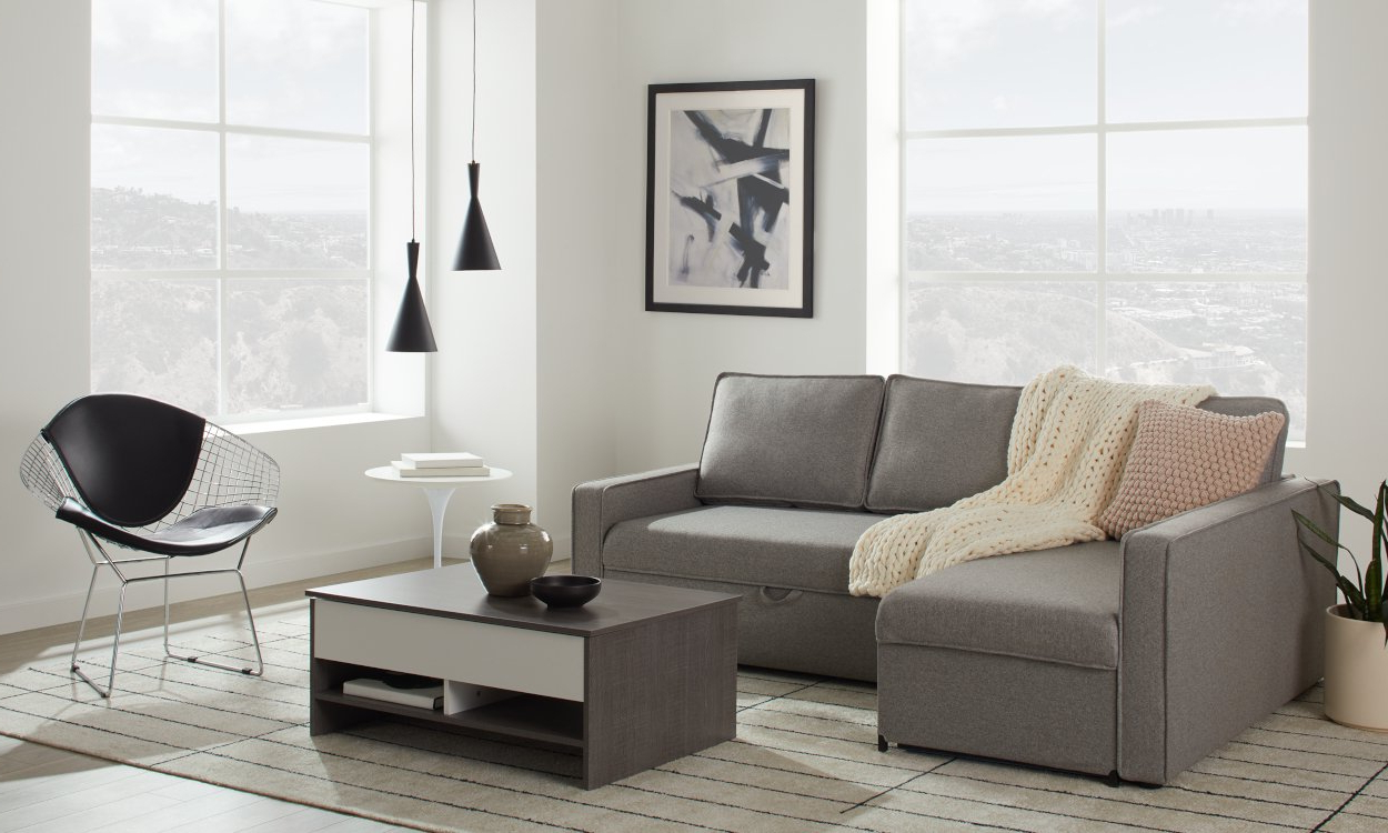 Popular Best Sleeper Sectional Sofa For Small Spaces 2020 Throughout Palisades Reversible Small Space Sectional Sofas With Storage (View 11 of 25)