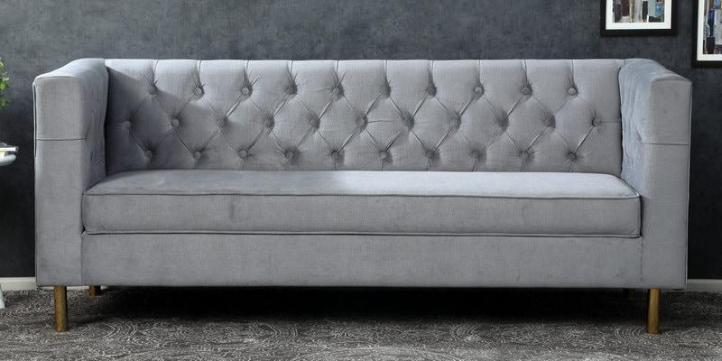 Popular Buy Scarlett 3 Seater Sofa In Grey Colour – Casacraft With Regard To Scarlett Blue Sofas (View 10 of 15)