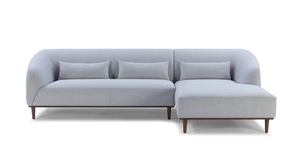 Popular Divani Casa Venus Mid Century Modern Grey Fabric Sectional Throughout Alani Mid Century Modern Sectional Sofas With Chaise (View 22 of 25)