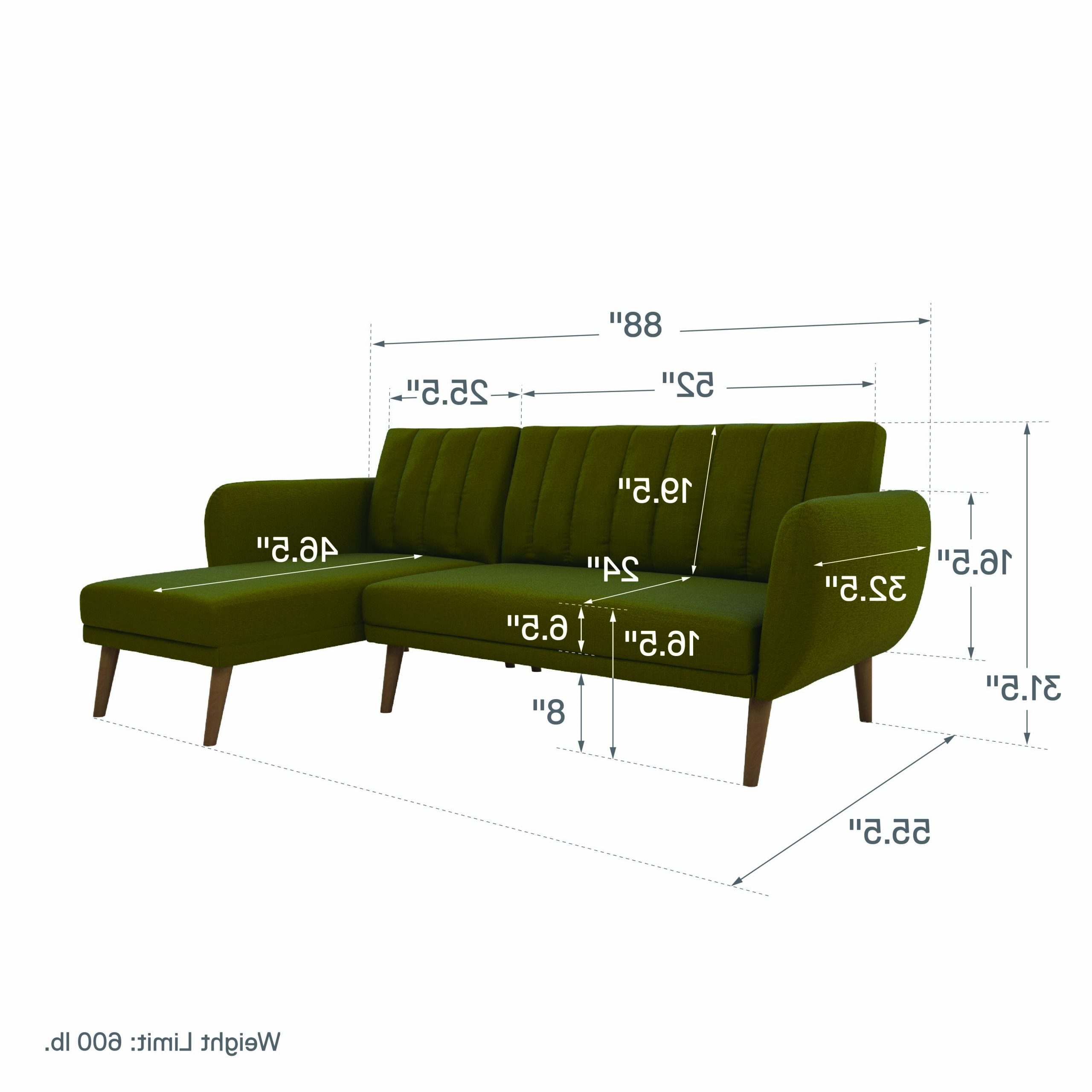 Popular Dorel Home Products Dorel Brittany Sectional Sofa Bed Regarding Brittany Sectional Futon Sofas (View 21 of 25)