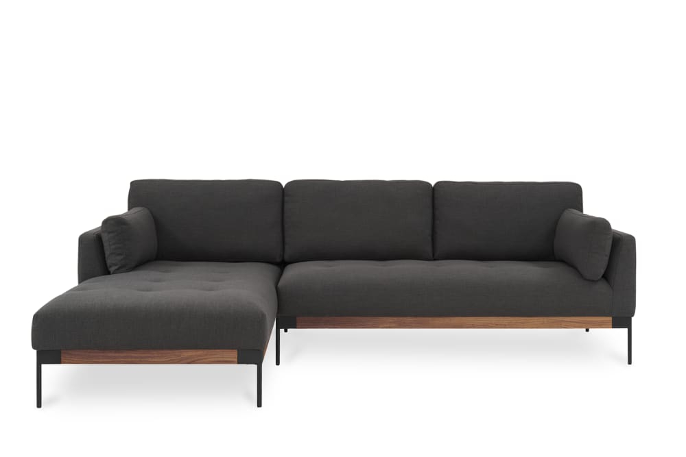 Popular Ethan Chaise Sectional Sofa, Right Facing, Stone Grey Throughout Dulce Right Sectional Sofas Twill Stone (View 8 of 25)