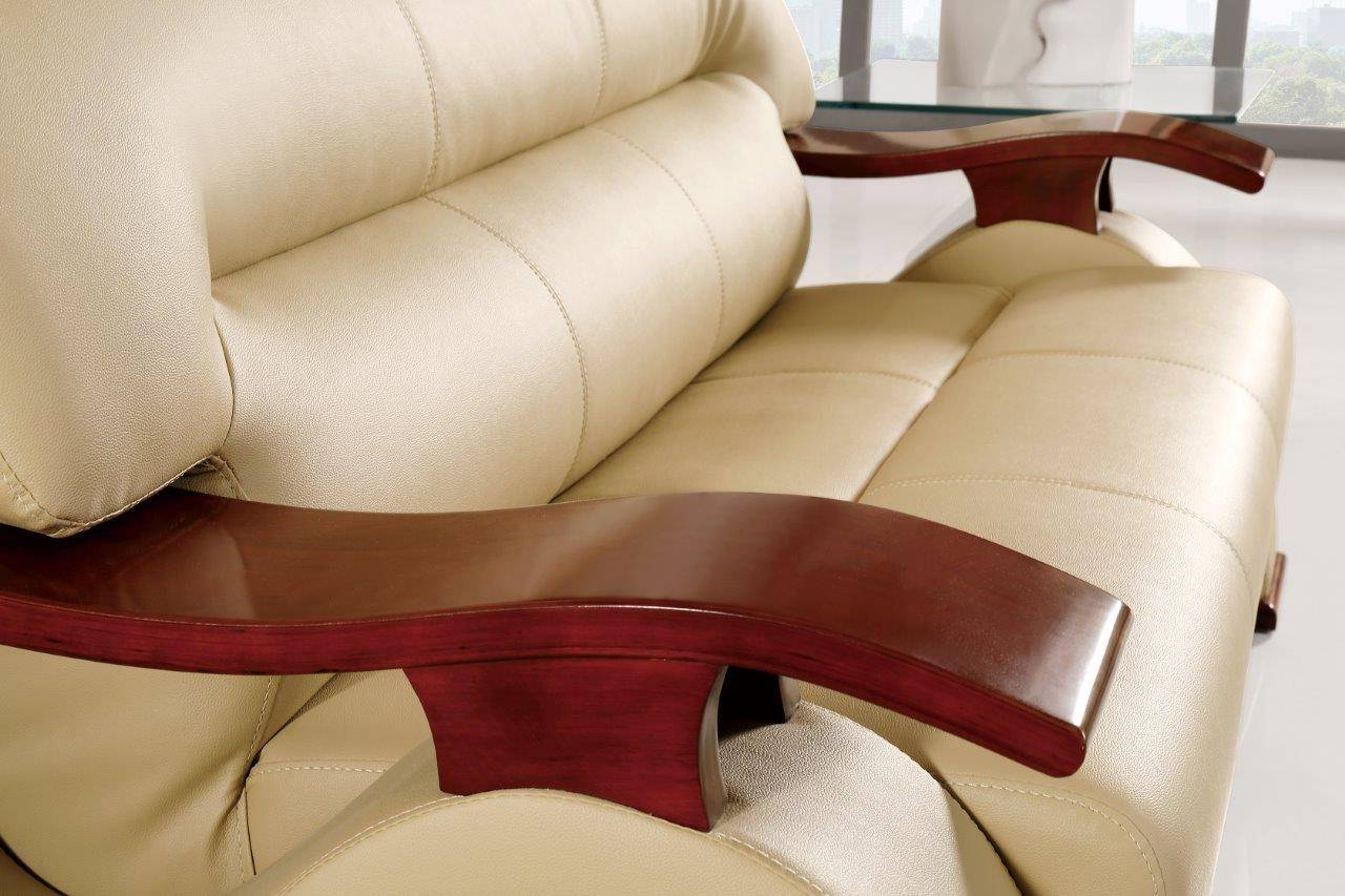 Popular Global Furniture U2033 Modern Design Cappuccino Bonded Regarding Bonded Leather All In One Sectional Sofas With Ottoman And 2 Pillows Brown (View 16 of 25)