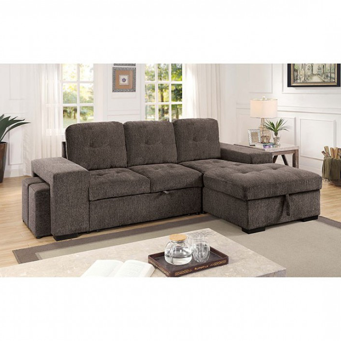 Popular Jamiya Sectional Sofa With Storage Compartment Within Prato Storage Sectional Futon Sofas (View 9 of 25)