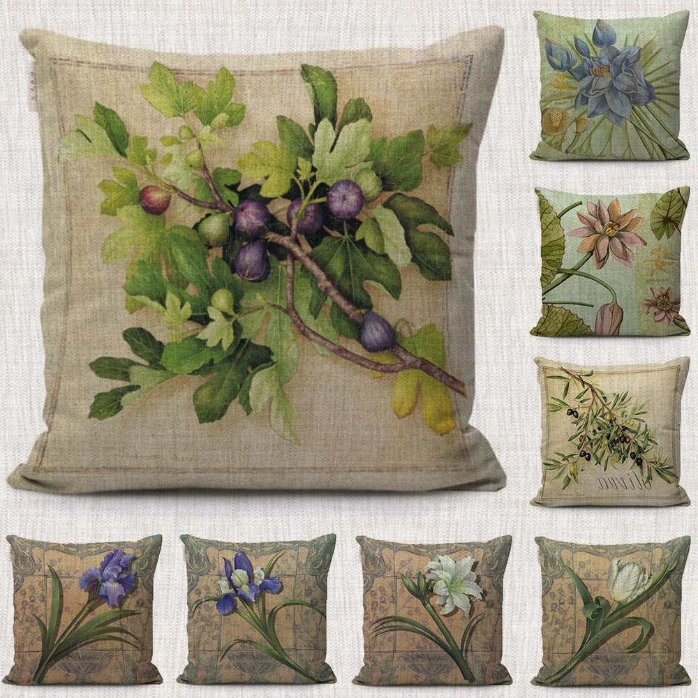 Popular Magnolia Floral Decorative Pillows Covers Green Intended For 2017 Magnolia Sectional Sofas With Pillows (View 20 of 25)