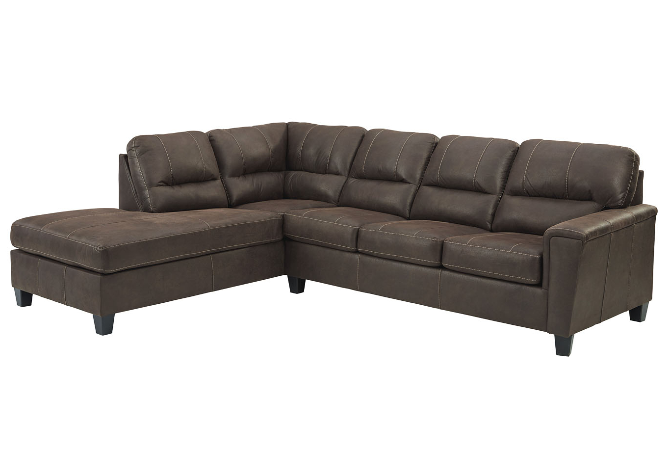 Popular Navi Chestnut Right Arm Facing Sofa Chaise Family Within 2Pc Maddox Right Arm Facing Sectional Sofas With Chaise Brown (View 13 of 25)