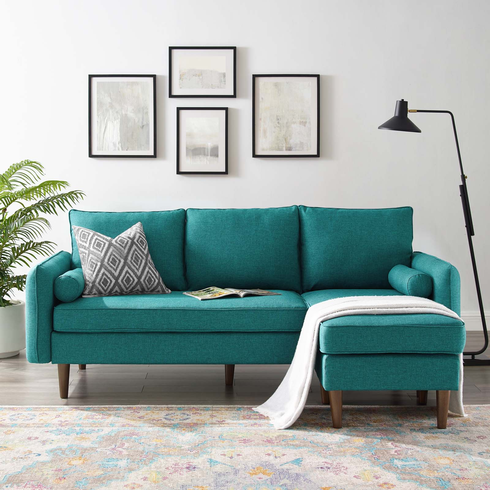 Popular Revive Upholstered Right Or Left Sectional Sofa Teal Within Hannah Right Sectional Sofas (View 13 of 25)
