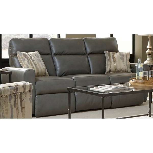 Popular Shop Southern Motion'S Knockout Power Double Reclining Inside Titan Leather Power Reclining Sofas (View 13 of 15)