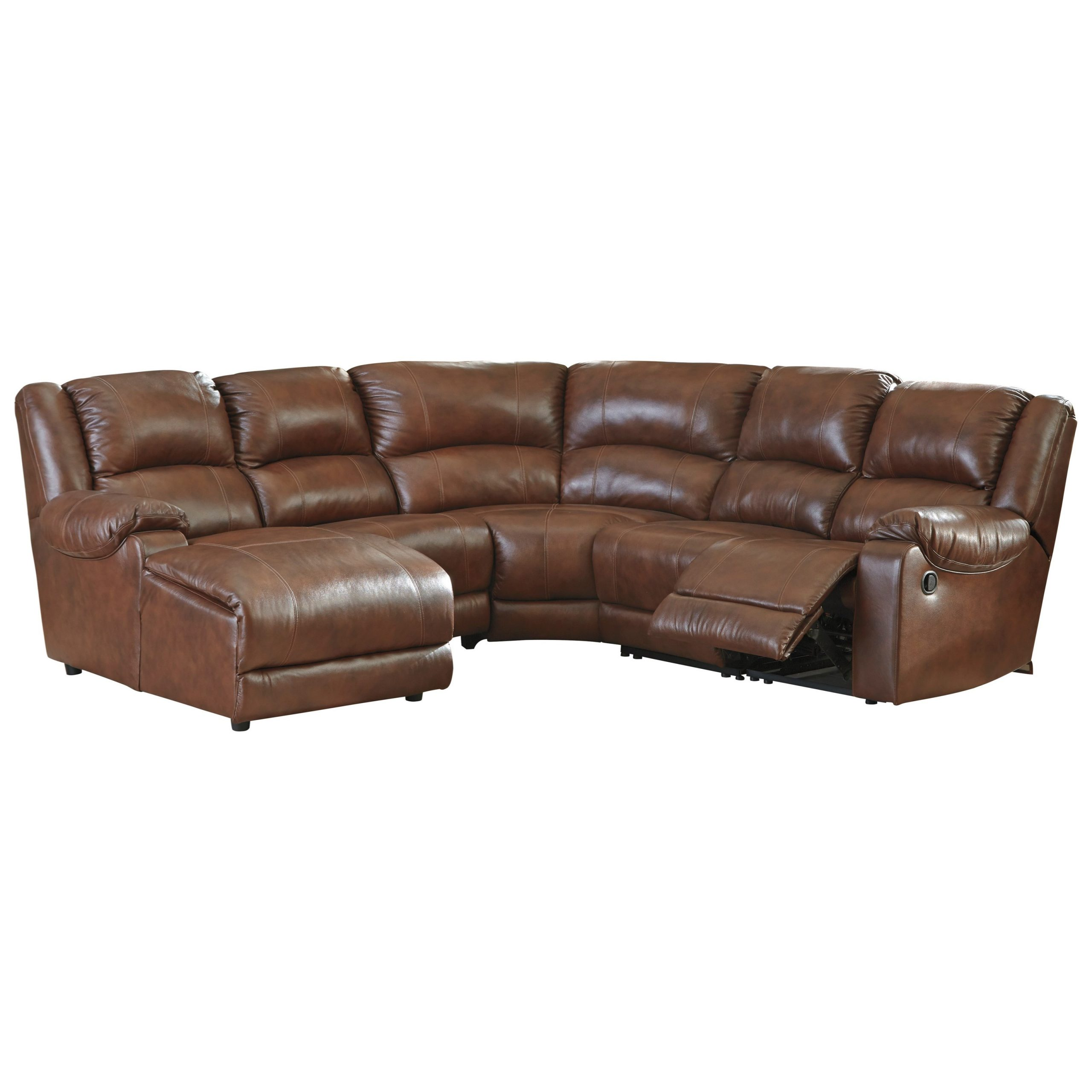 Popular Signature Designashley Billwedge Leather Match For Copenhagen Reclining Sectional Sofas With Right Storage Chaise (View 22 of 25)