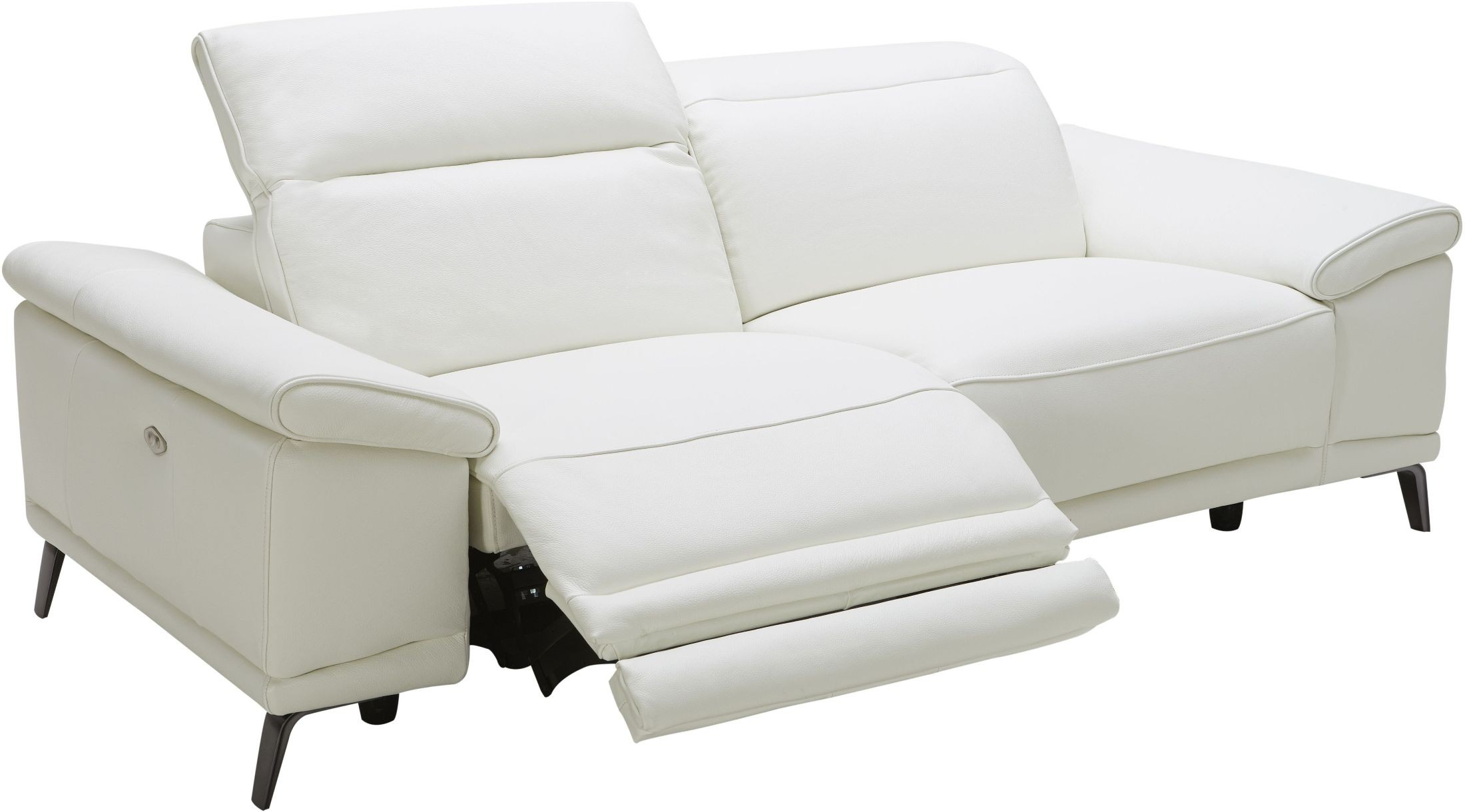 Power Reclining Sofas In Preferred Gaia White Leather Power Reclining Sofa, 18253 S, J&M (View 10 of 15)