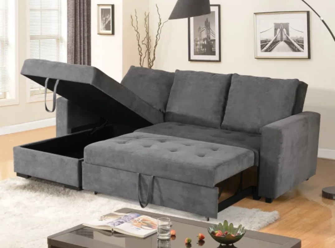 Prato Storage Sectional Futon Sofas For Favorite Livi King Size Sectional Sofa Bed – Reversible Chaise (View 4 of 25)