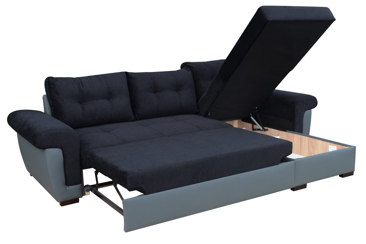 Prato Storage Sectional Futon Sofas With Regard To Most Current Sofafox Corner Sofa Bed With Storage  Buy Online In United (View 23 of 25)