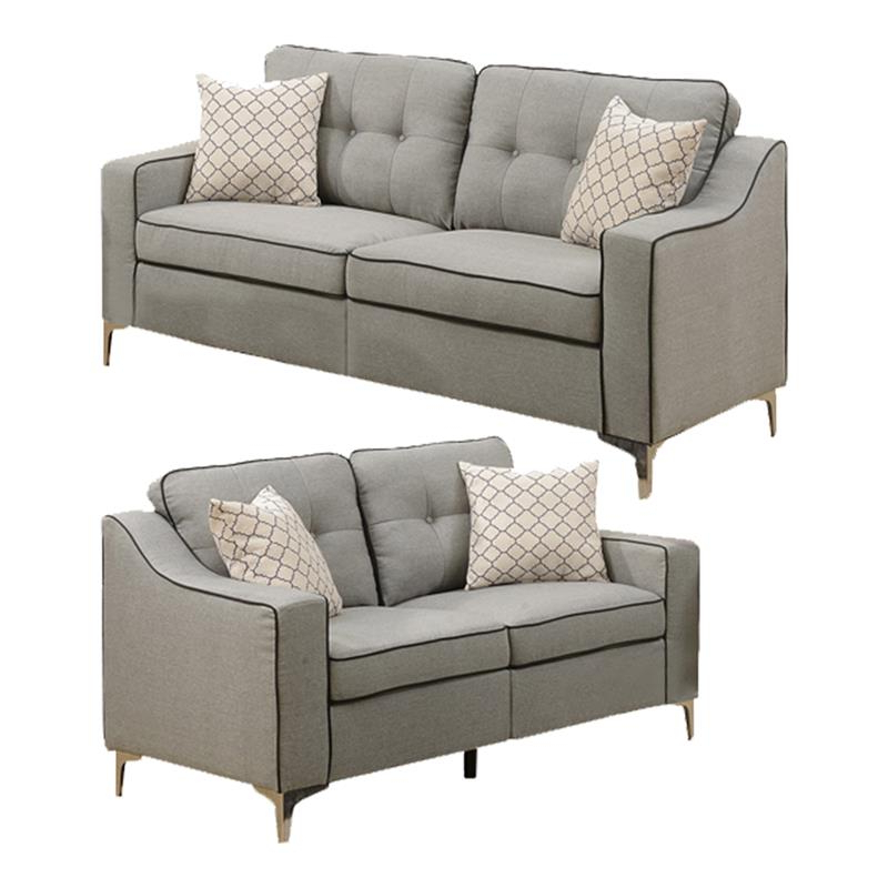 Preferred 2Pc Maddox Left Arm Facing Sectional Sofas With Cuddler Brown With Regard To Living Room Sets: Sofa Sets With Couch And Loveseat (View 3 of 20)