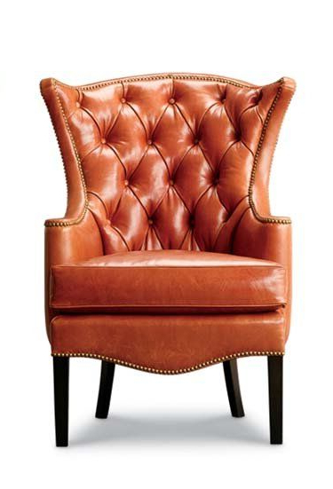 """Preferred 30"""" Wide Tufted Genuine Leather Wingback Chair (View 16 of 25)"""
